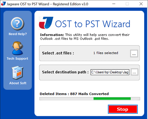 Import OST File into PST File Format